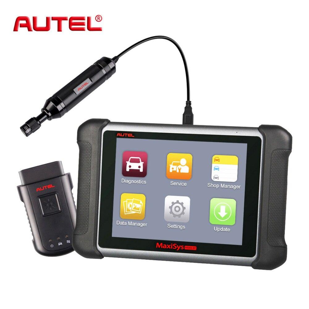 цена на Autel MaxiSys MS906BT Car Diagnostic Tool OBD Code Reader Scanner ECU Coding MV108 Autel MS906 BT OBD2 Automotivo Car Scanner