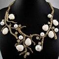 Mais novo lindo colar de cristal declaração departamento ra mulheres colar gargantilha colares pingentes q782
