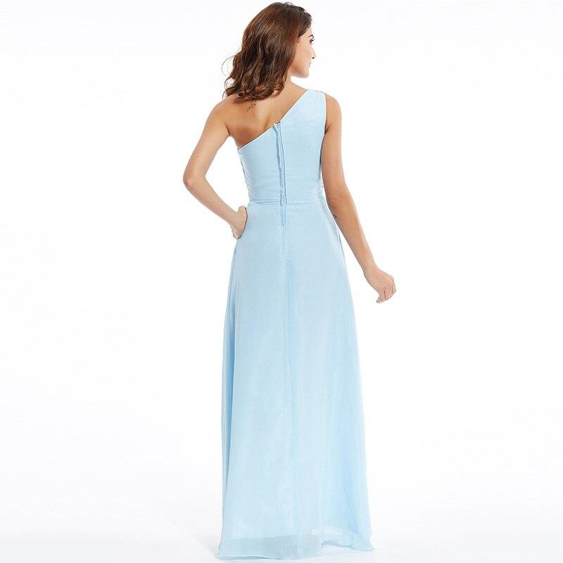 Tanpell une épaule robe de soirée pas cher ciel bleu sans manches - Habillez-vous pour des occasions spéciales - Photo 3
