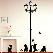 Funny Cute Cat Wall Stickers Home Decoration Kids Bedroom Wallpaper Decals Animals Wall Poster Stickers on the Wall Decor