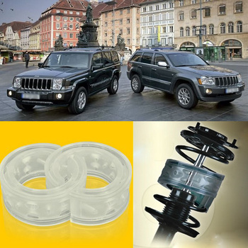 2pcs Power Front /Rear Shock Suspension Cushion Buffer Spring Bumper For Jeep Commander