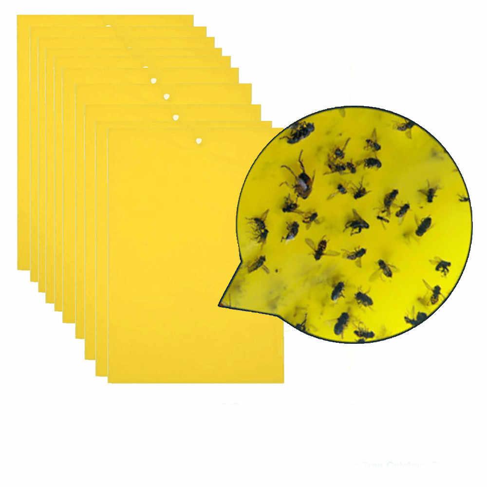 Hoge kwaliteit Sterke Vliegt Vallen Bugs Sticky Board Catching Bladluis Insecten Pest Killer stok pest niet giftig onschadelijk geen residu