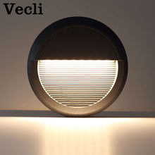 Outdoor waterproof LED foot light step lighting fixtures garden landscape wall lamp staircase modern aisle corner wall sconce(China)