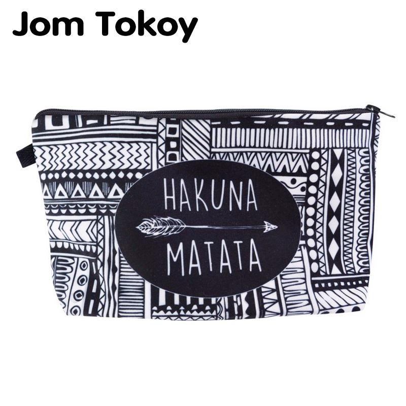 Jom Tokoy Fashion Brand Cosmetic Bags New Makeup bag Heat Transfer Printing Women Travel cosmetic organizer bag