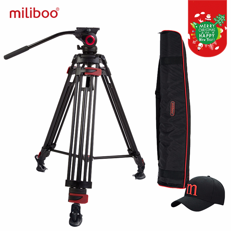 miliboo MTT603A Aluminium Portable Camera Tripod untuk Camcorder Profesional / Video / DSLR Berdiri 75mm Bowl Saiz Video Tripod