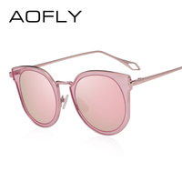 AOFLY BRAND DESIGN Polarized Sunglasses Women Fashion Cat Eye Sun Glasses Mirror Lens Classic Style Goggles