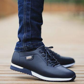 Męskie ze skóry pu biznesowe obuwie dla mężczyzny Outdoor oddychające sneakersy męskie modne mokasyny obuwie spacerowe Tenis Feminino tanie i dobre opinie ZeeWes RUBBER Dropshippers men s sneakers casual shoes Lace-up Pasuje prawda na wymiar weź swój normalny rozmiar Stałe