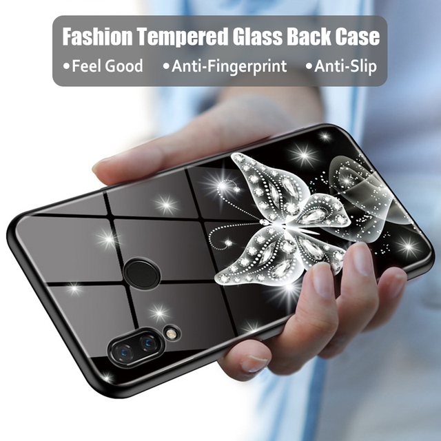 new concept 5894d befe9 US $3.99 20% OFF|JONSNOW Tempered Glass Back Case For Huawei Nova 3i Full  Back Glass Phone Cover TPU Soft Edge for Huawei Nova 3 Capa Fundas-in  Fitted ...