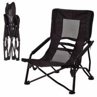 Outdoor High Back Folding Beach Chair Oxford Camping Furniture Portable Mesh Chair Black Seat Fishing Stool OP3079