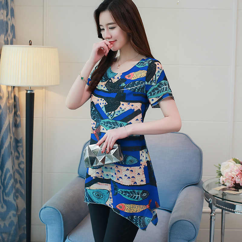 49519b4efdb ... new fashion plus size 4XL chiffon women blouse shirt short sleeve summer  tops print chiffon blouse. RELATED PRODUCTS. Korean Fashion Clothing ...