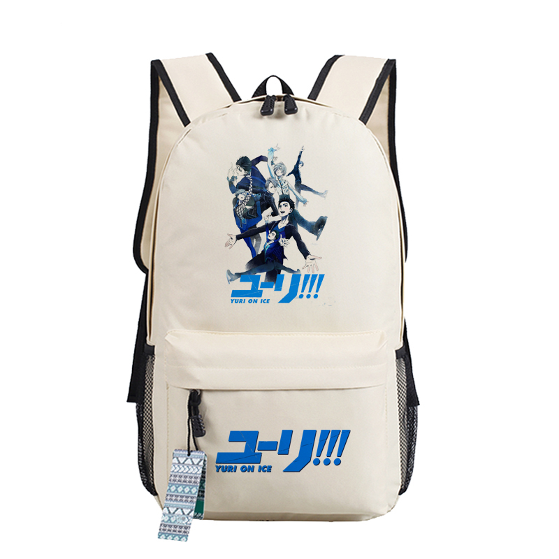Image 3 - YURI on ICE Katsuki Yuri Women Backpack Canvas School Bags for  Teenage Harajuku Travel Bagpack Anime Laptop Back Pack Bookbagbackpack  schoolbackpack school bagschool bag laptop