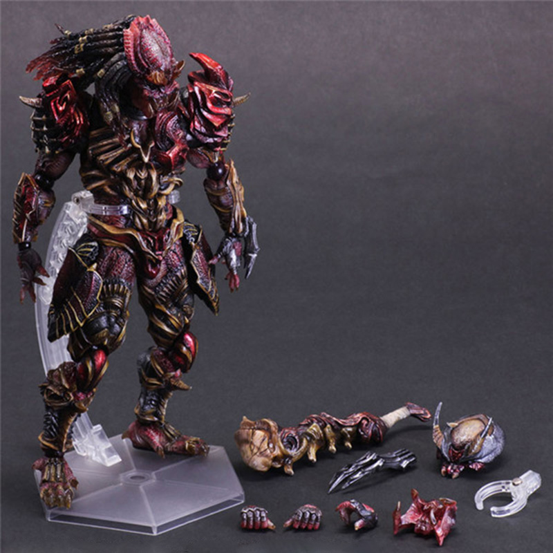 цена на Marvel Action Figures Toys Updated Series 26cm Predator Series Predator With Stand PVC Action Figure Collectible Model Toy