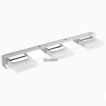 Hot Vender 9 W LED Espelho Do Banheiro De Iluminação, Cool Branco/branco Morno, Aço Inoxidável Moderno Luzes Do Espelho Acrílico 3-luzes