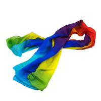 5 Meter Rainbow Magic Silk Scarf Multicolor Ultra Thin Scarves Magic Tricks For Stage Close Up