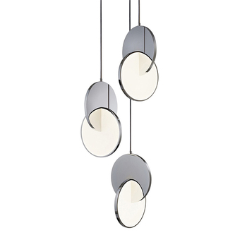 nordic pendant lights hanging lamp loft Round mirror metal led for restaurant dining room kitchen personality home deco living