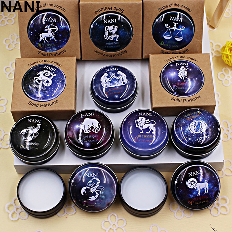 Brand NANI High Quality 12 Signs Constellation Zodiac Magic Solid  Deodorant Solid Fragrance For Women Men