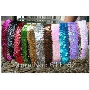 Разноцветные 400 шт 1 ''блесток ободки Детские ободки для девочки стрейч блесток заставку Ch