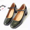 2017 vintage Mary Janes shoes woman buckle high heeled oxford shoes women solid ladies pumps spring high heels oxfords female