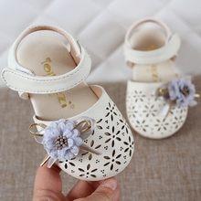 ba142cf08 الصيف الرضع الاطفال طفل الفتيات أنيقة FlowerHallow الصنادل الأميرة أحذية  أطفال صنادل هلامي الفتيات الصنادل chaussure