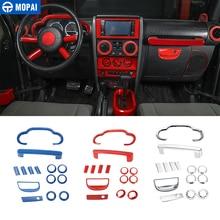 MOPAI Car Interior Dashboard Speaker Volante Air Vent Decorazione Adesivi Copertura per Jeep Wrangler 2007-2010 Accessori