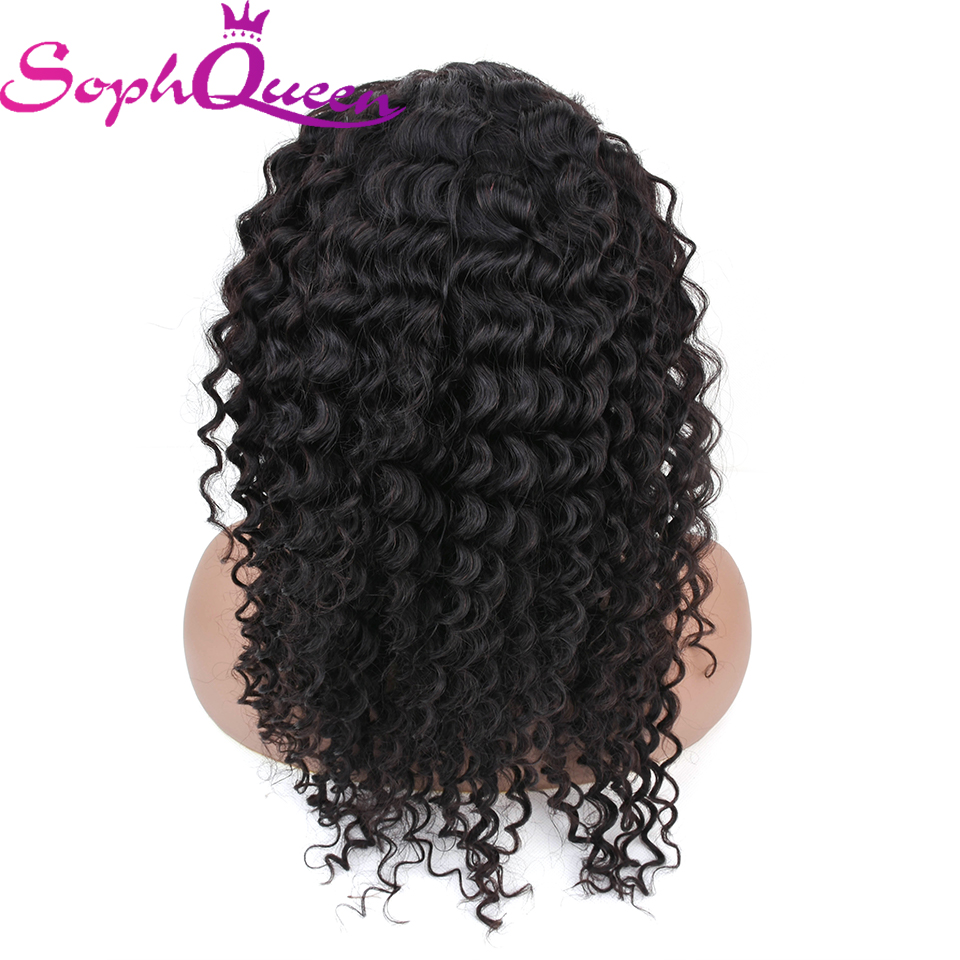 Soph Queen Hair 13*4 Lace Frontal Human Hair Wigs For Black Women Peruvian Deep Wave Remy Hair Wigs With Baby Hair Natural Color