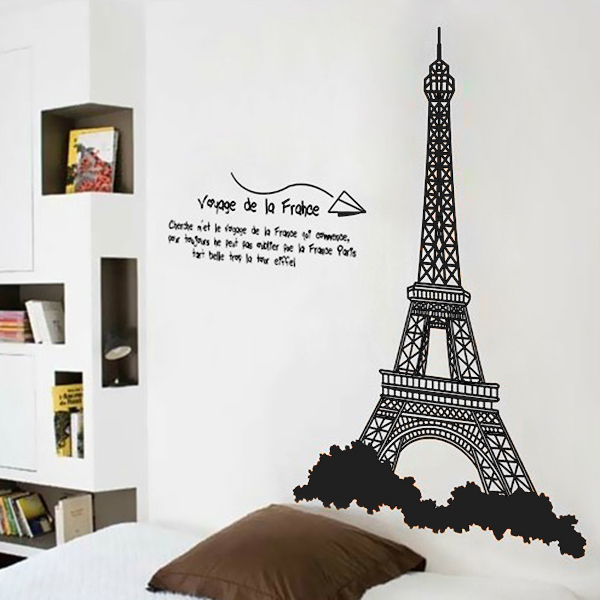 Eiffel Tower Design Wall Stickers Mural Wall Sticker Home Office