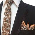Juego de los hombres Lazos Pañuelo De Flores para La Boda Trajes Flaco Corbata Gravatas Delgado Pequeño Bolsillo Pañuelos Cuadrados Toalla Pecho Masculino