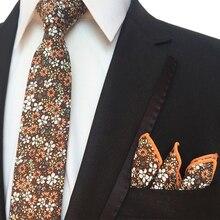 Mantieqingway Men's Suit Floral Handkerchief Ties for Wedding Suits Skinny Necktie Gravatas Slim Small Pocket Square Chest Towel