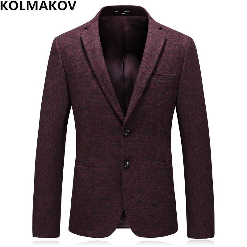 Пиджаки Для мужчин 2019 Для мужчин новая мода пиджак Slim Fit Для мужчин s Осень Повседневное Блейзер Куртки Костюмы Hombre плюс Размеры M-4XL