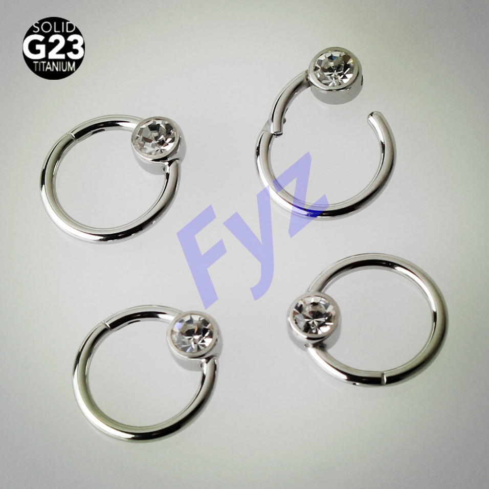 G23 Titanium 16g Nose Septum Clicker Segment Ring Lip Piercing Nipple Ring Ear Cartilage Helix Tragus Stud Body Jewelry Body Jewelry Aliexpress