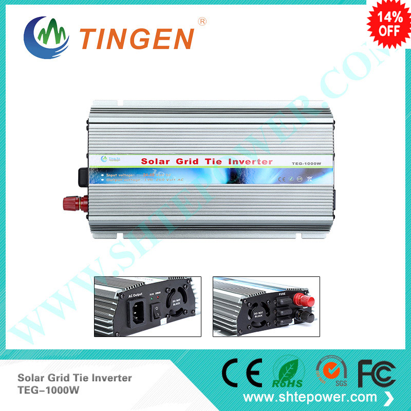 1000W Grid Tie Inverter MPPT Function, Pure Sine Wave 220V/230V/240VAC Output 24-45VDC Input Micro on grid tie inverter
