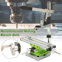 Multifunction Milling Machine Miniature High Precision Bench drill Vise Fixture worktable X Y axis adjustment Coordinate Table