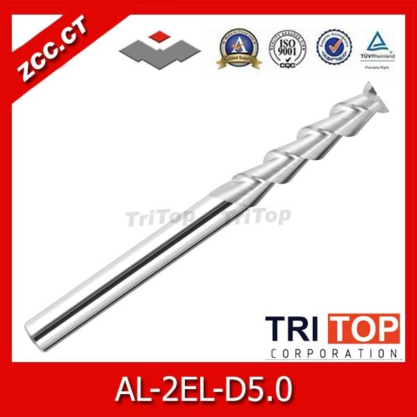 5PCS/LOT AL-2EL-D5.0 ZCC.CT 2 flute carbide end mills long cutting edge solid carbide milling cutters  цены