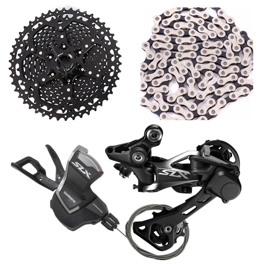 Shimano slx m7000 vélo vélo vtt 11 vitesse shifter arrière Dérailleurs avec sunrace csms8 11-46 t cassette x11.93 chaîne