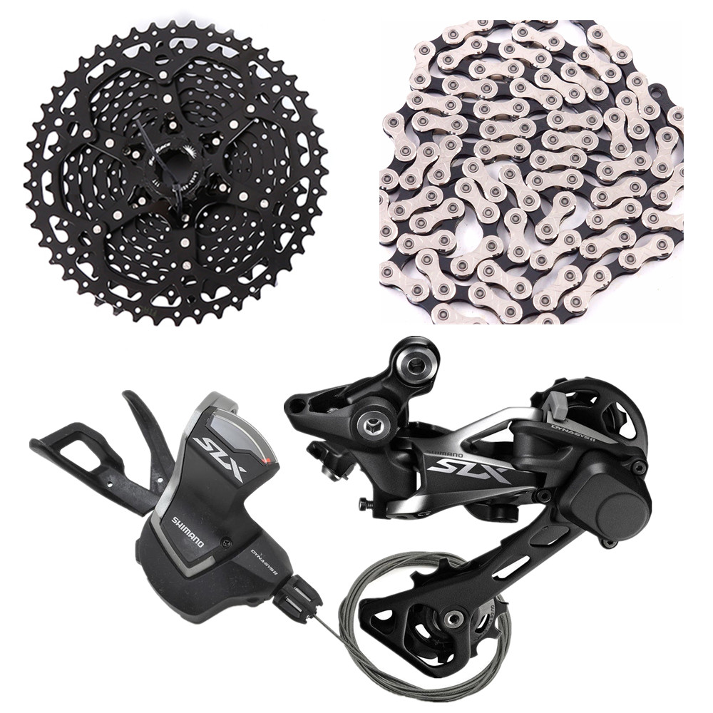 shimano slx m7000 bike bicycle mtb 11speed shifter rear Derailleurs with sunrace csms8 11 46t cassette