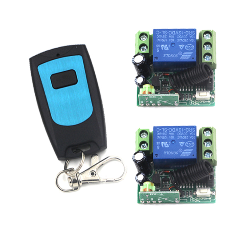 Wholesale 1 Channel DC 12V RF Wireless Remote Control Kit Radio Switch-1 Transmitter & 2 Receiver Toggle Control Momentary 4027 wholesale wholesale remote control 30d 5d 20d 10d 5dmarkii