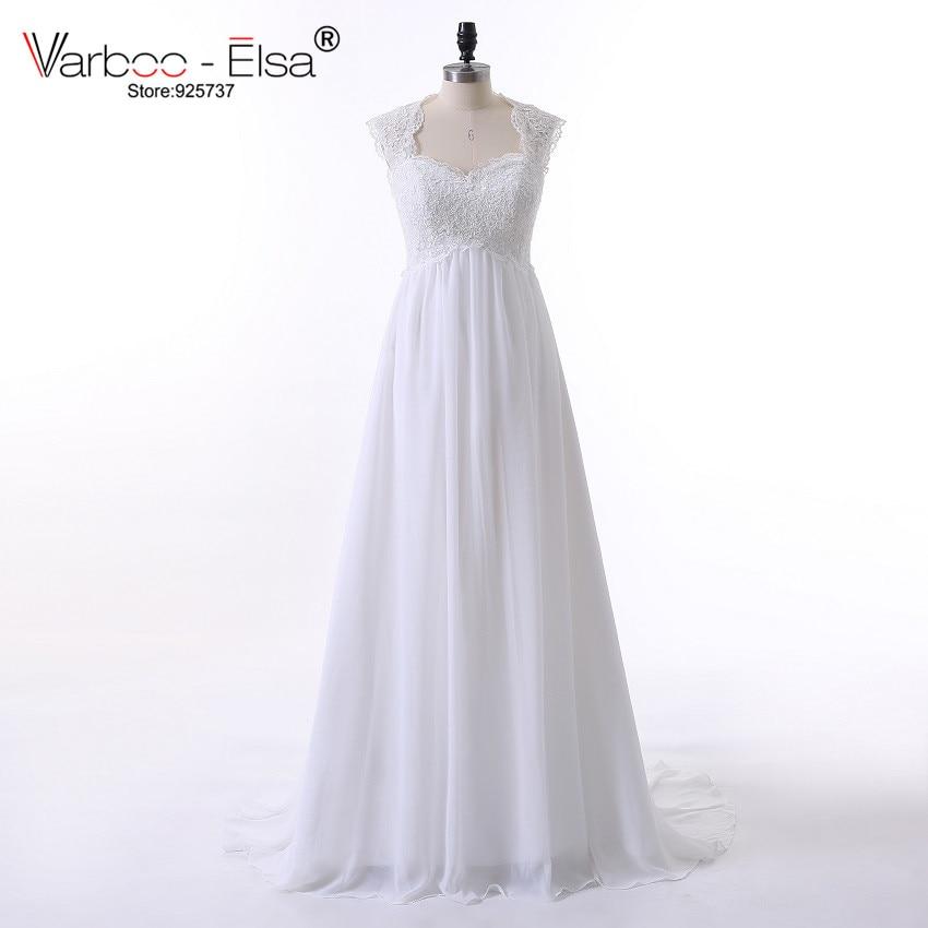 Us 139 0 Vintage Wedding Dress Beach Chiffon A Line Empire Waist Boho Lace Straps Maternity Plus Size Robe Mariage In
