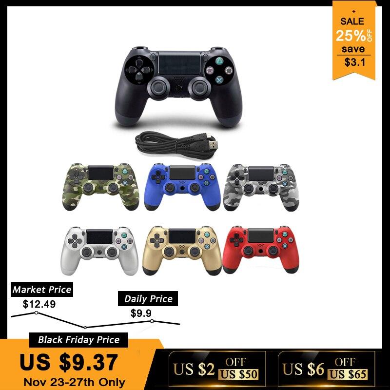Cable USB Gamepad para Playstation Sony PS4 controlador Joystick Joypad Controle para PC Win 7/8/10 PS3 consola con Cable USB