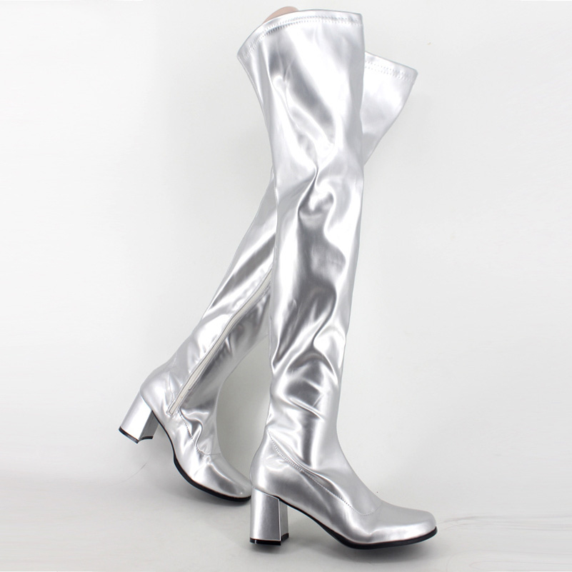 Sorbern Women Boots Patent Leather Over Knee Length 2018 Plus Size Ladies Party Boots Custom Made Color Gay Cosplay Performance sword art online 5 phantom bullet death gun cosplay shoe party boots high quality custom made