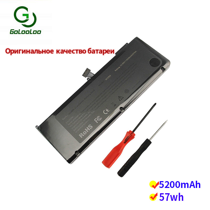 Golooloo 10.95v 5200mAh/57Wh Laptop Battery 020-7134-01 661-5844 A1382 For Apple A1286 Macbook Pro 2011 15 MC723LL/A MC721LL/A
