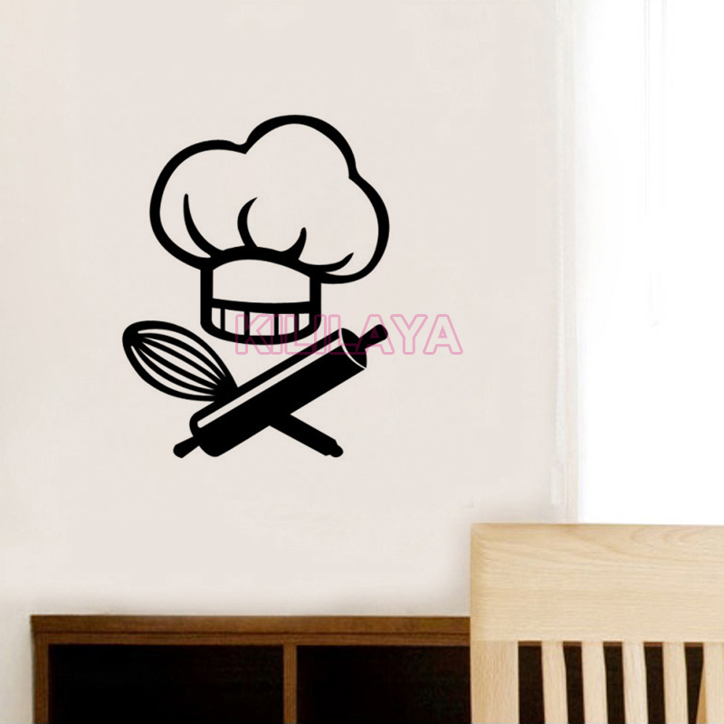 Stickers le chef cuisine vinyl wall decal wallpaper mural - Stickers protection cuisine ...