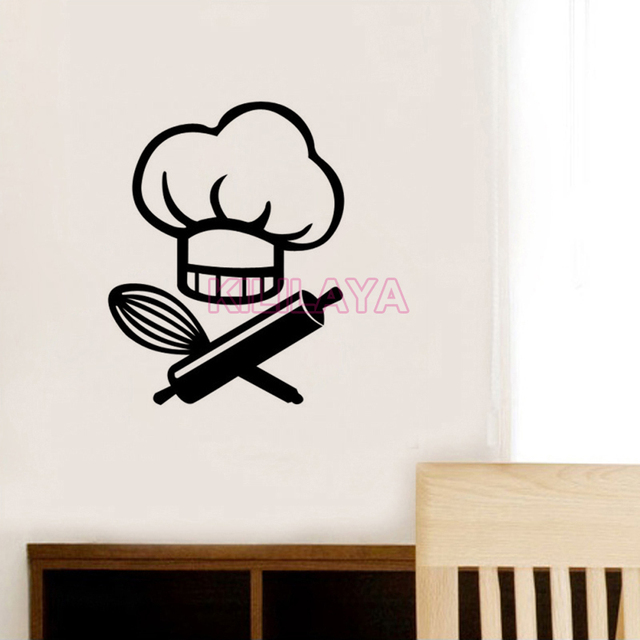 Stickers Le Chef Cuisine Vinyl Wall Decal Wallpaper Mural on the Wall ...