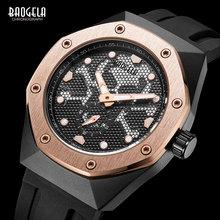 BAOGELA Men Army Silicone Sports Quartz Watches Top Brand Luxury Luminous Wristwatch for Man Relogios Masculino Clock 1901 Rose