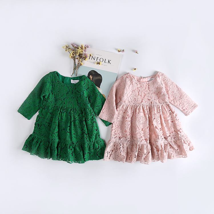 2018 Spring New Style Lace Girls Dress Baby Girl Casual Dresses Children Clothing Party Vestidos Infantis Toddler Girl Clothing uoipae girl party dress 2018 casual