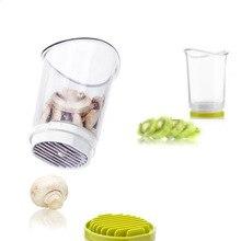 Utensilios de cocina de Acero Inoxidable Taza de Fruta Slicer Slicer Cortador de Verduras Con Captura de Setas