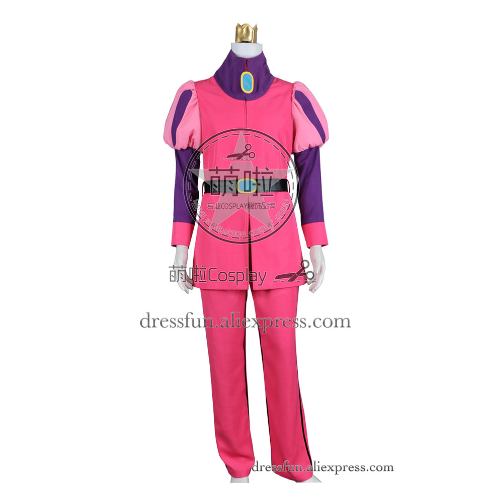 Adventure Time Cosplay Prince Gumball Costume New Full Set