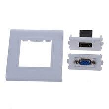 מלא נקבה HDMI VGA שקע שקע לשקע רכיב מורכב וידאו קיר פנל צלחת