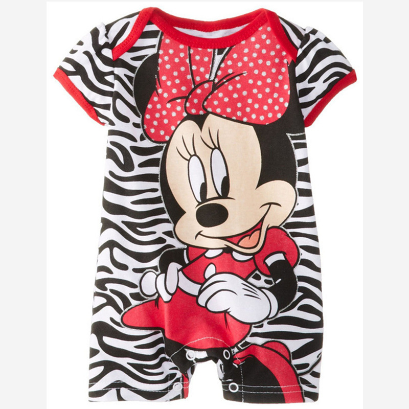 Baby Romper Short Sleeve Cute Clothes Baby Girl One Pieces Jumpsuits Roupas De Bebe Infantil Mickey Minnie Cartoon Baby Clothing cute minnie baby girl romper long sleeve baby clothes roupa infantil macacao ropa bebe jumpsuit baby rompers infant clothing