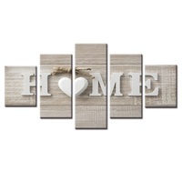 5 Pieces/set Abstract poster love series Canvas Painting Living room bedroom Decoration Print Canvas Pictures Framed