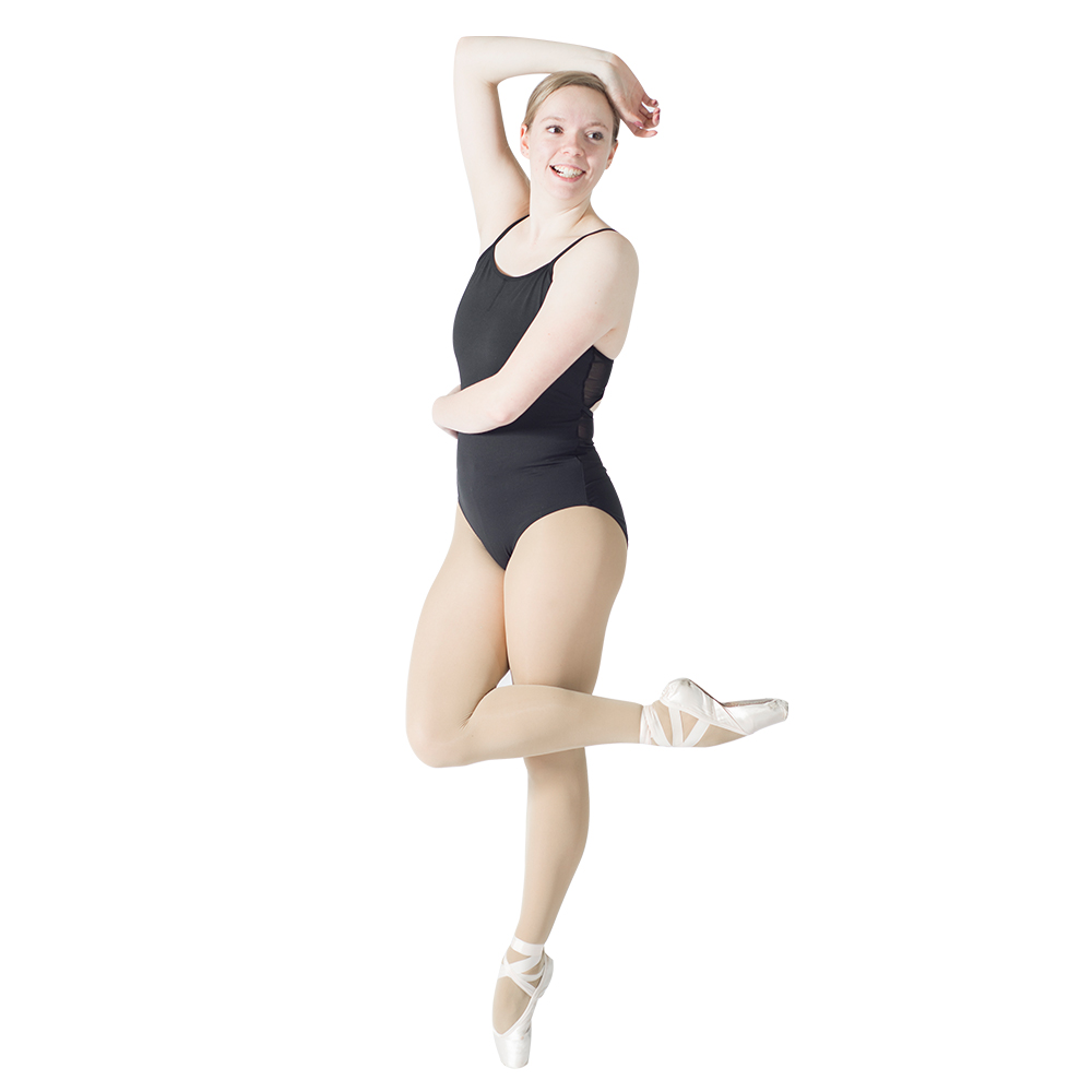 a648c1bcd942 Black Cotton Lycra Mesh Camisole Dancing Leotard with Back Hole ...